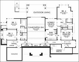 Ranch Style House Plans With Basement by One Story Floor Plans With Basements
