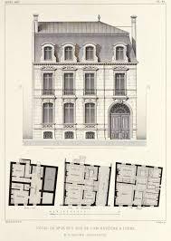 elevation and floor plans of a hotel particulier tours декор