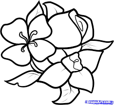 how to draw a simple rose design my nature book clip art library