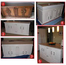 steps to making your own kitchen island 1 find an old buffet