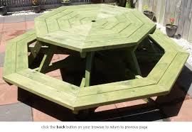 Free Wooden Picnic Table Plans by Need Help With Octagon Picnic Table Top Please Woodworking Talk