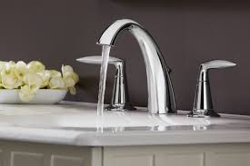 bathroom design interesting silver kohler faucets with double