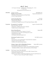 Sample Of Receptionist Resume 100 sample resume hair stylist resume free cover letter army