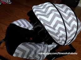Replacement Canopy Covers by Baby Boy Gray Black Infant Car Seat Cover Canopy Cover Fit Most