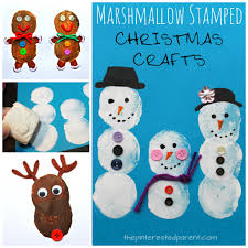 marshmallow painted christmas crafts u2013 the pinterested parent