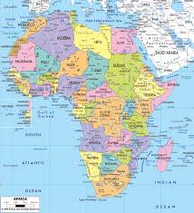 Spain Political Map by Maps Of Africa And African Countries Political Maps