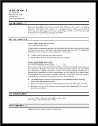 Resume Examples For Sales Associates  resume samples sales     happytom co