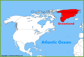 N America Map by Greenland Location On The North America Map