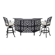 Patio Furniture Bar Height Dining Set - outsunny 3 piece cast aluminum outdoor patio bar height dining set