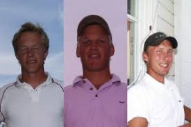 Rekordgrabbarna Thomas Eriksson, Pontus Eliasson och Pontus Ericsson. - D0228XX_banrekord