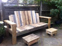 Patio Furniture Wood Pallets - garden bench and footstools made from scrap pallet wood initially