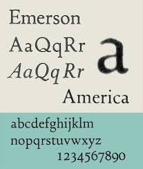 Best Resume Font Style And Size by Emerson Typeface Wikipedia