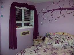 bedroom beautiful bedroom long black seating purple wall color
