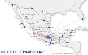 Carrier Route Maps by Interjet World Airline News