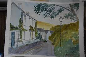 Mural Painting Sketches by Michael Jecks Photo Diary