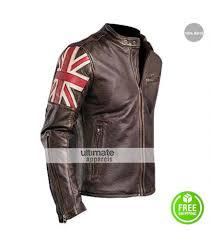 men s moto jacket uk flag vintage mens motorcycle cafe racer jacket