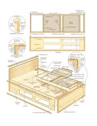 Make A Platform Bed With Storage by Best 25 Bed Plans Ideas On Pinterest Bed Frame Diy Storage