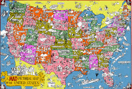 Big Map Of The United States by Usa Pictorial Map