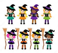 halloween cute clipart halloween cute witches big set u2014 stock vector sandylevtov 83692078