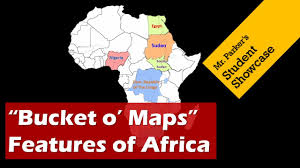 Physical Map Of Africa by Political And Physical Maps Of Africa Bucket O Maps Youtube