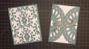 Wedding Invitation Card Making Frilly Doily Card With Cricut Explore Tutorial Youtube