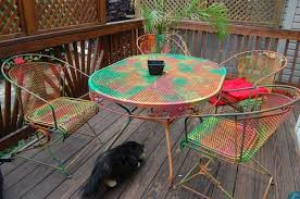 Use Painted Metal Patio Furniture To Get Instant New Look And - Colorful patio furniture