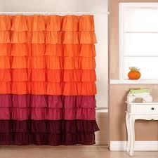 orange shower curtains shower accessories the home depot