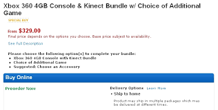 best black friday deals xbox console and kinect xbox 360 kinect bundle gets cheaper before black friday on amazon