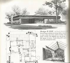 Vintage Home Design Plans Vintage House Plans Mid Century Homes Large Homes Mid Century