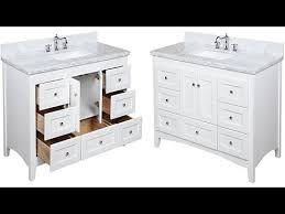 Bathroom Vanity With Tops by Abbey 48 Inch Carrara White Bathroom Vanity With Italian Carrara