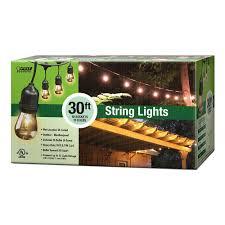 Home Depot Interior Lights Feit Electric 30 Ft 10 Socket Incandescent String Light Set 72041