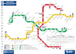 Metro Lines Map by Public Transport In Prague Metro Trams Buses Trains Ferries