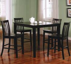 Square Black Counter Height Dining Table Set - Counter height kitchen table
