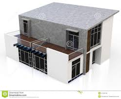 House 3d Model Free Download by 3d Modern Duplex House Stock Illustration Image 47284160