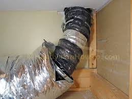 Insulated Ventilation Ducting How To Replace A Bathroom Exhaust Fan And Ductwork Connect Flex Duct