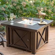 Patio Heater Covers by Red Ember Longmont 45 In Square Propane Fire Pit Table Hayneedle