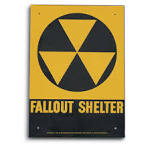 Genuine Cold War Era FALLOUT SHELTER Sign - 96373, Field Gear at.