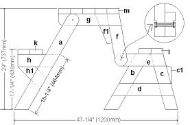 Building Plans For Picnic Table Bench by Side Elevation Plans Of Folding Picnic Table In Table Mode