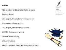 Services Title selection for Dissertation MBA SlideShare  Services Title selection for Dissertation MBA SlideShare