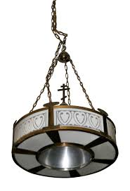 pair of large art deco pendant lights olde good things