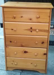 Pine Drawers Uhuru Furniture U0026 Collectibles Sold 5 Drawer Varnish Knotty Pine