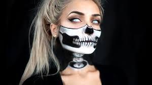 The 15 Best Sugar Skull Makeup Looks For Halloween Halloween by Half Skull U0026 Exposed Spine Halloween Makeup Tutorial Youtube