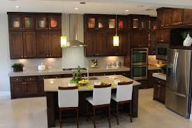 Dark Stained Kitchen Cabinets Cabinet Gallery Burrows Cabinets Kitchen Bath Media Office