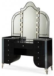 Linon Home Decor Vanity Set With Butterfly Bench Black Black Vanity Desk With Mirror Foter