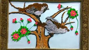 how to make beautiful wall craft with waste paper all art u0026 craft