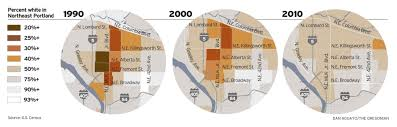 Zip Code Map Portland Or in portland u0027s heart 2010 census shows diversity dwindling