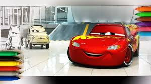 cars 3 lightning mcqueen with guido and luigi coloring pages