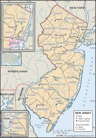 New York County Map by State And County Maps Of New Jersey