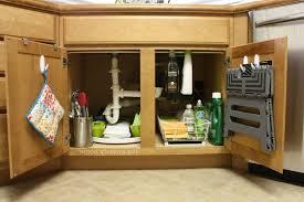 under sink kitchen organizer ikea black white tile backsplash