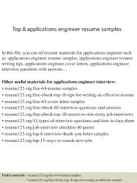 Application Resume Example by Top 8 Applications Engineer Resume Samples 1 638 Jpg Cb U003d1428396452